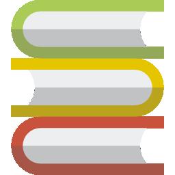 Stack of multi-colored books