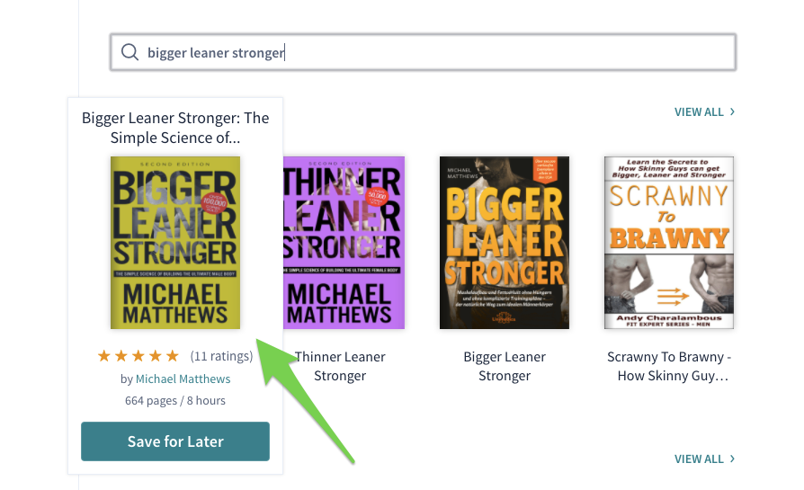 Searching for Bigger Leaner Stronger on Scribd